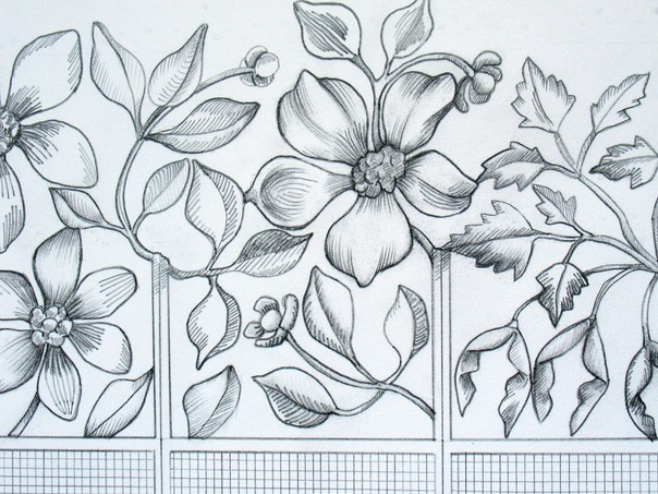 Big flowers design whitesavage lyle adobe drawing0007 altavistaventures Images